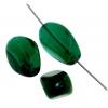 Glass Bead 4 Sided Flat 18x12 18x12mm Emerald Strung